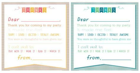 printable thank you notes from teachers to students christmas printable thank you cards for kids