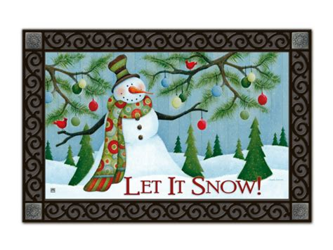 Winter Doormats let it snow non slip recycled rubber matmates winter