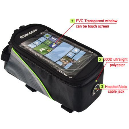 Bike Waterproof Bag 55 Inch Smartphone Tas Frame Sepeda Hp Anti roswheel bicycle smartphone bag bi end 5 12 2014 12 15 pm