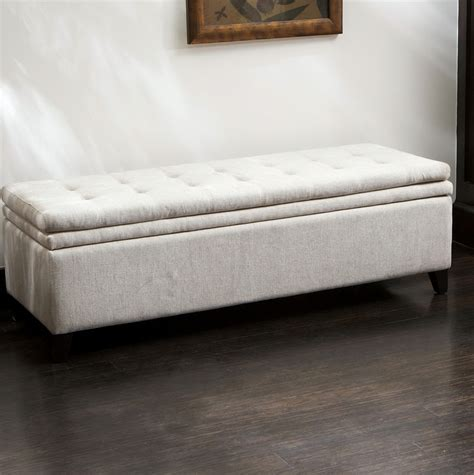 long ottoman storage bench long ottoman bench with storage home design ideas