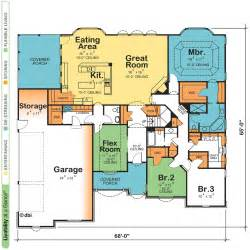 one floor 4 bedroom house blueprints one story home and house plans at eplanscom 1 story