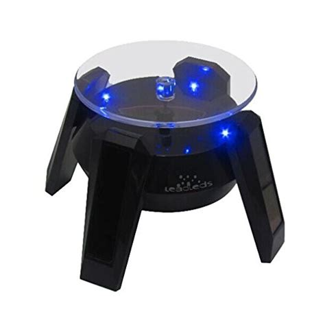 battery operated led display lights leadleds exquisite new black solar powered display stand