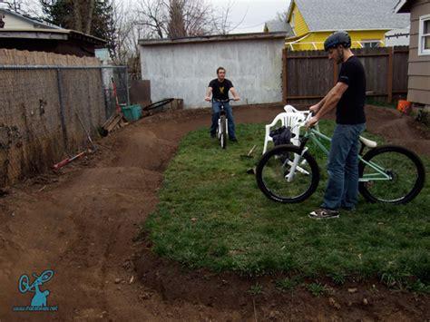backyard bmx tracks jim bob s pump track basic loop backyard track