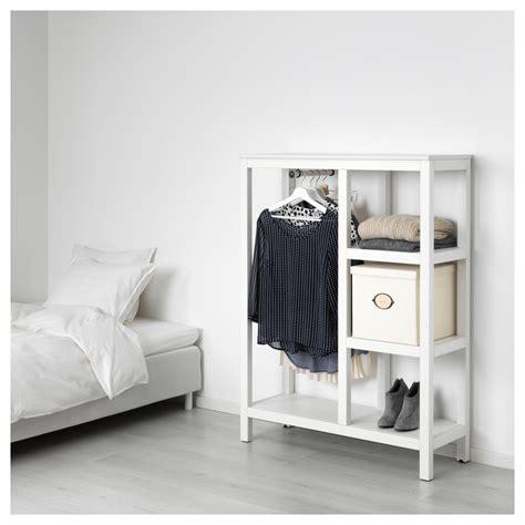 ikea open wardrobes hemnes open wardrobe white stained 99x130x37 cm ikea