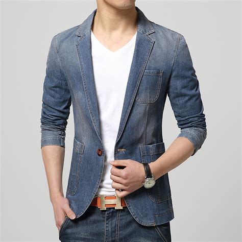 Blezer Denim popular denim blazer buy cheap denim blazer lots