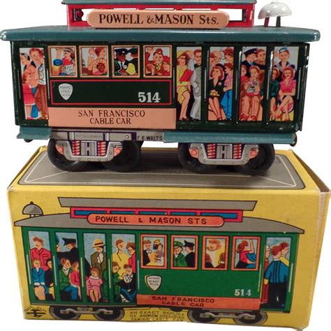 japanese rubber sts vintage san francisco 514 cable car japanese tin