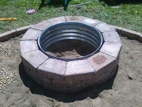 Firepit Ring Galvanized And Brick Pit Ring Galvanized Pit Ring Pit Ring