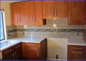 kitchen backsplash tile ideas subway glass glass and subway tile backsplash designs