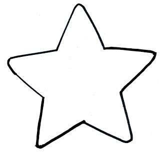 star clipart blank pencil and in color star clipart blank