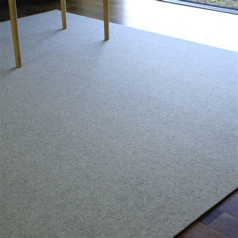 teppich 2 x 2 m filzteppich 180x300 wei 223 meliert teppich schurwolle