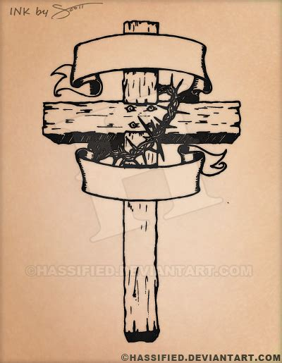 old rugged cross tattoo rugged cross by hassified on deviantart