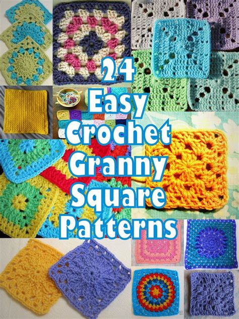 pattern for simple granny squares crochet 24 easy crochet granny square patterns