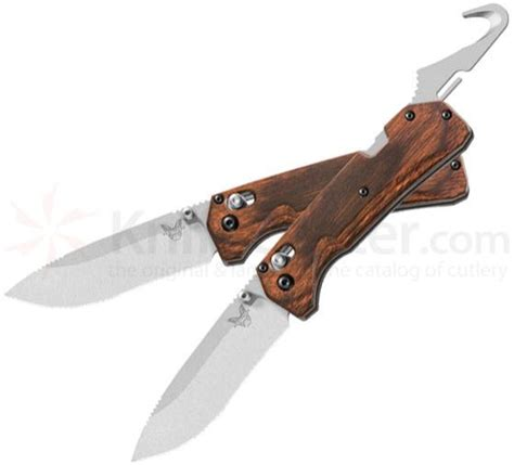 benchmade hunt series benchmade hunt 15060 2 grizzly creek folding knife 3 50 quot s30v blade with gut hook dymondwood