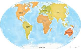World Continents Map by World Maps Continents Viewing Gallery