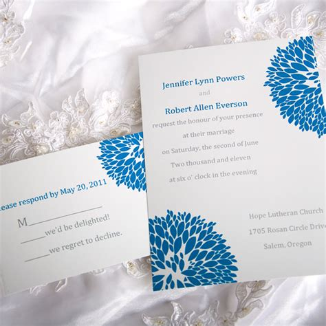 hydrangea wedding invitation blue hydrangea wedding invitations with response