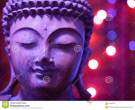 lilac lights lilac wooden buddha with lights stock photo image 63685975