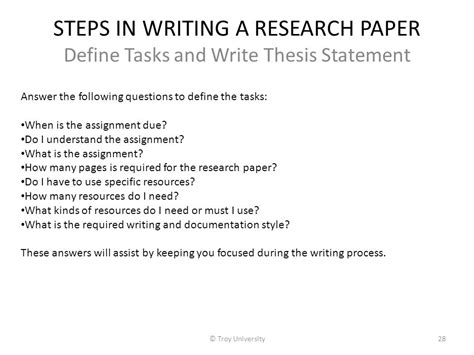 Steps On A Research Paper - presenter introduction ppt