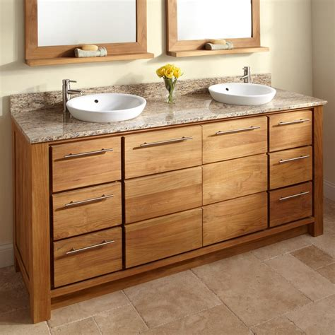 Bathroom Vanity Sink Cabinets Wood Bathroom Cabinet And Granite Vanity Tops With Vessel Sinks Decofurnish