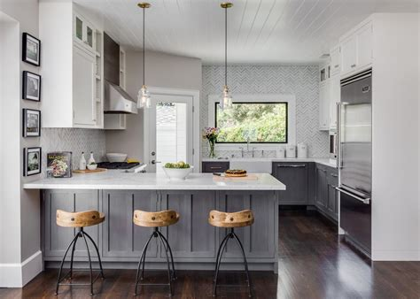 grey country kitchen in home decoration planner with