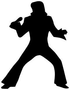Famous Elvis Silhouette Famous Entertainers Musicians Elvis