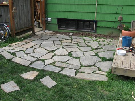 Laying Paver Patio Laying Patio Pavers On Grass Synthetic Grass Gopher Flats Oregon Paver Patio Backyard How To