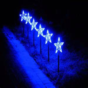 blue led star snowflake pathfinder christmas lights 6