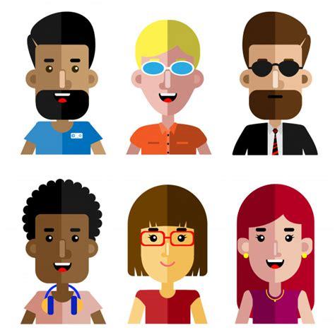desenho de pessoas conjunto de pessoas trabalhando desenho animado avatar