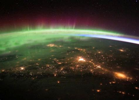 auroras from space pictures northern lights from space station pics about space