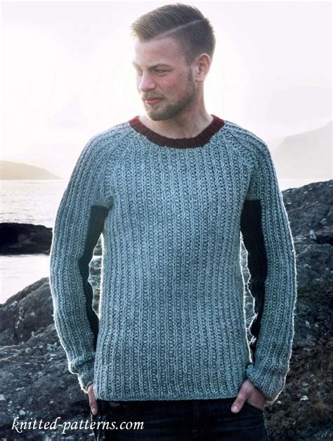 knitting patterns for s jumpers half fisherman s rib raglan jumper