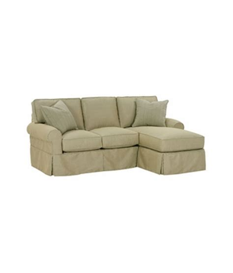 small slipcovered chaise sectional sleeper sofa