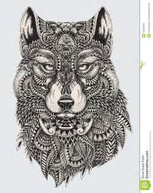 Highly detailed abstract wolf illustration highly detailed abstract