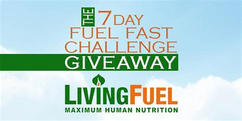 Fuel Giveaway - announcing the winners in the 7 day fuel fast challenge