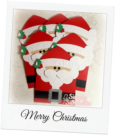 Santa Gift Card Holder - simply silhouette december 2013