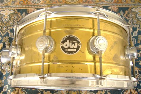 Dw Style 14 dw brass snare drum 6 5x14 early version timbale shell