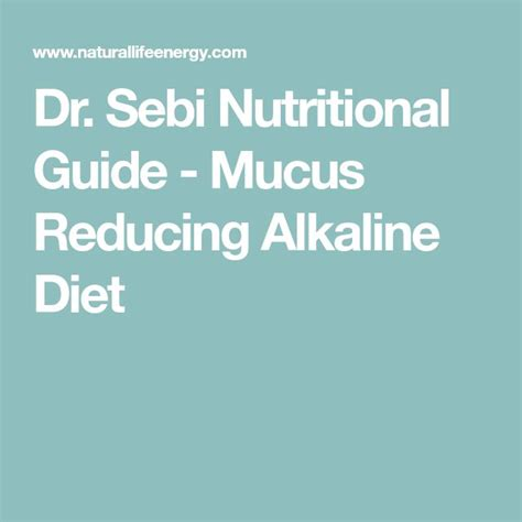 Dr Sebi Detox Diet by Best 25 Nutrition Guide Ideas On Precision