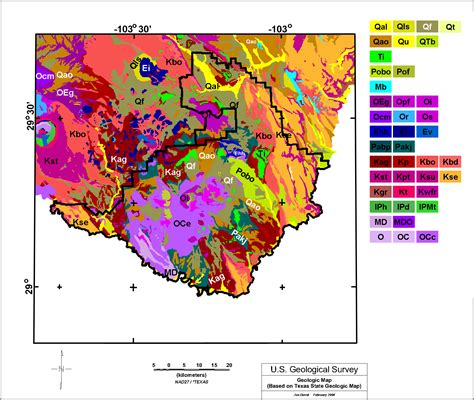 geological map of texas usgs open file report 2005 1371