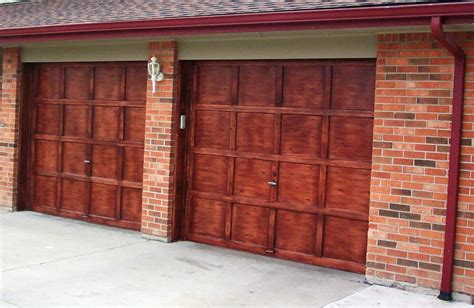 Garage Door Faux Wood Faux Wood Painted Garage Doors