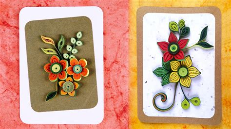 How To Make Paper Cards - how to make greeting cards paper quilling