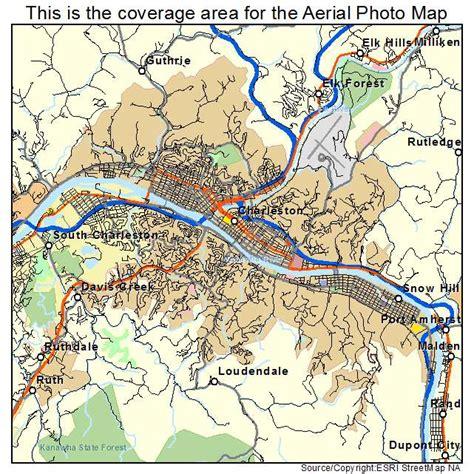 charleston wv map aerial photography map of charleston wv west virginia