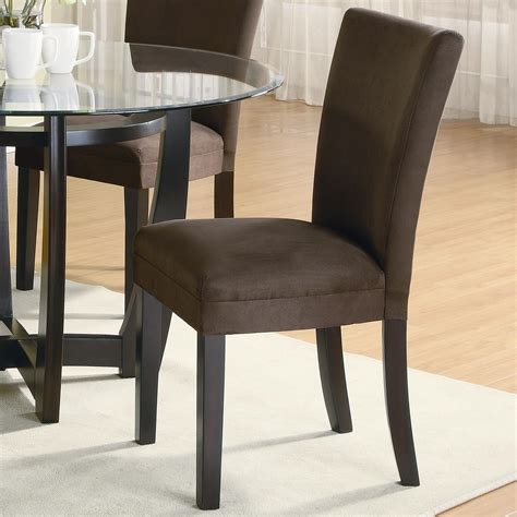 Microfiber Dining Room Chairs Coaster Bloomfield 101496 Microfiber Parson Side Chair