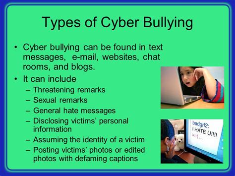 Cyber Chat Rooms by Violence Bullying In Schools Ppt