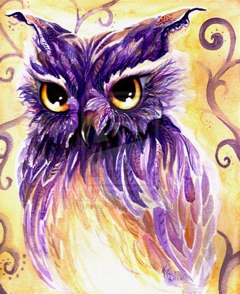 Owl Purple purple owl by flyawayfairy on deviantart i