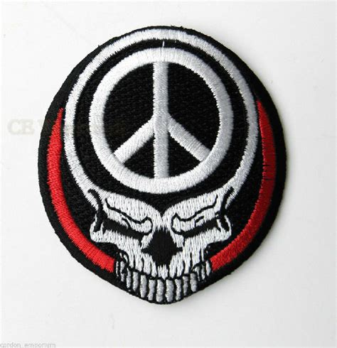 tattoo guns wings patch large novelty patches thecheapplace skull death wings peace novelty embroidered patch 3 inches