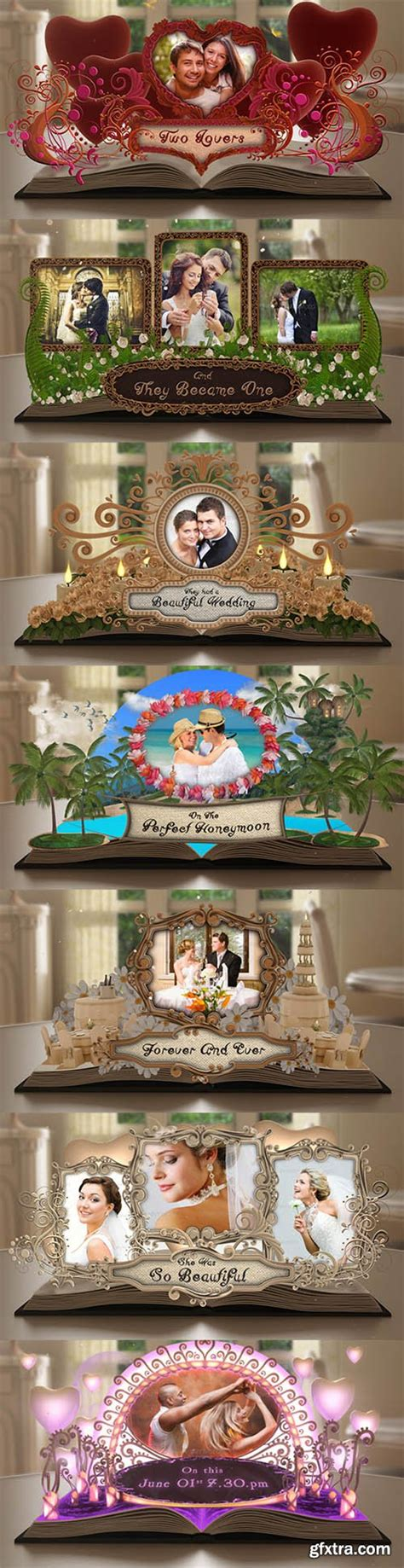 Wedding Album Videohive by Videohive Wedding Album Pop Up Book 7530457 187 Vector