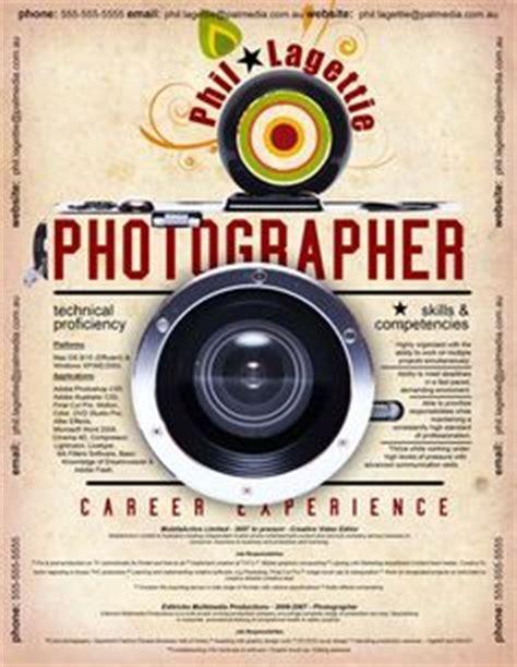 Plantilla De Curriculum Fotografo formato de curr 237 culum creativo para fot 243 grafo modelo