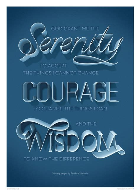 inspirational quotes serenity prayer poster www