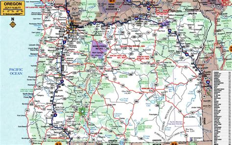 oregon state usa map large detailed roads and highways map of oregon state with