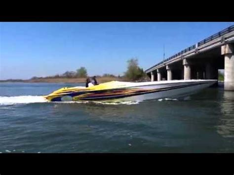 on a boat with a tiger 42 cigarette tiger race boat youtube