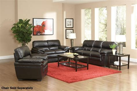 Black Sofa And Loveseat Set by Coaster Fenmore 502951 502952 Black Leather Sofa And