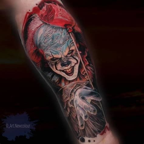 pennywise tattoo pennywise by daniel armitage best tattoos